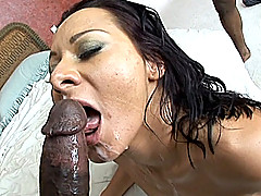 Sandra Romain gets gangbanged by three big dicks